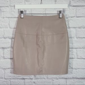 MISSGUIDED faux leather mini skirt SZ 0 NWT